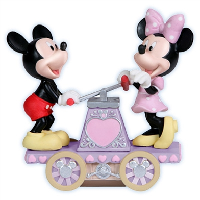 Mickey & Minnie on Hand Car, Disney Figurine - Precious Moments, 114705