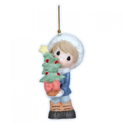 Boy with Christmas Sapling Ornament - Precious Moments, 121011