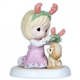 Girl Wearing Antlers with Puppy - Precious Moments Figurine, 121014