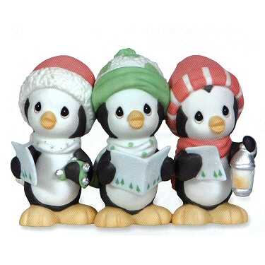 Penguin Christmas Carolers Precious Moments Figurine