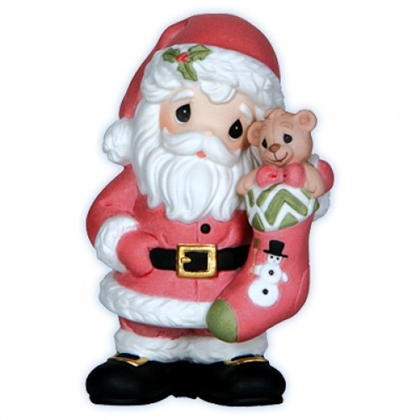 Santa with Stocking - Precious Moments Figurine, 121023