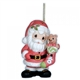 Santa with Stocking - Precious Moments Ornament, 121024