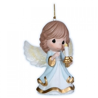 Angel Holding Candle Christmas Ornament - Precious Moments, 121028