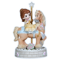 Belle on Carousel Horse -  Precious Moments Disney Figurine, 121038
