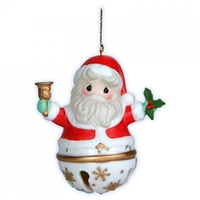 Santa Jingle Bell Ornament - Precious Moments, 121050