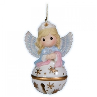 Angel Jingle Bell Ornament - Precious Moments, 121052
