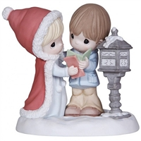Couple with Christmas Cards - Precious Moments Figurine, 131012