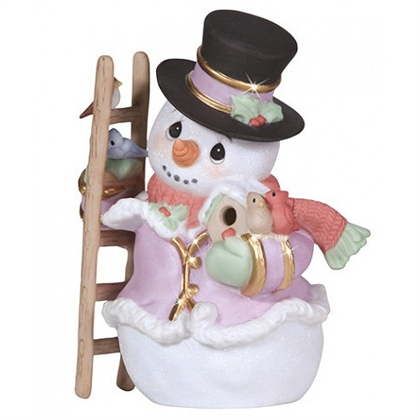 Snowman With Birds Precious Moments Figurine 131024