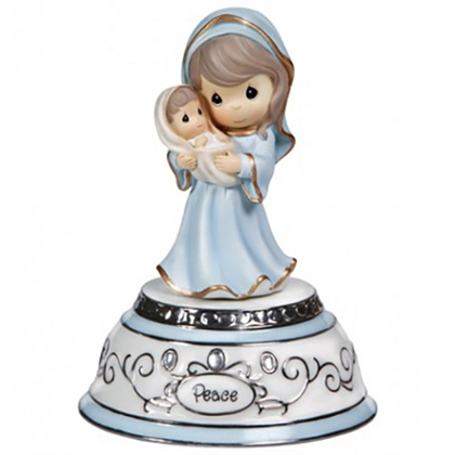 Mary with Baby Jesus by Precious Moments Musical Figurine, 131109