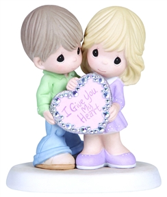 Precious Moments Couple Holding Heart Figurine 133005