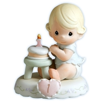 Blonde Birthday Girl, Age 1 Precious Moments Growing in Grace Figurine 136190