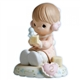 Brunette Birthday Girl, Age 2 - Precious Moments Growing in Grace Figurine, 136212B