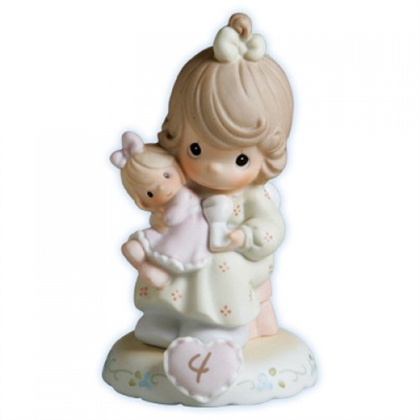 Growing in Grace, Age 4 (Brunette) - Precious Moments Figurine, 136239b