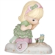 Precious Moments Growing in Grace Blonde Girl Age 3 Discovering Flowers Figurine 142012