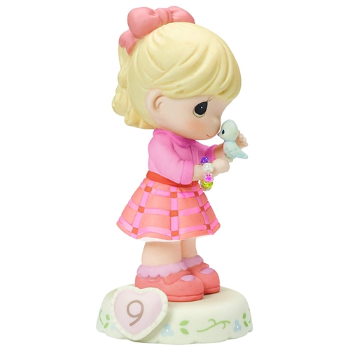 Precious Moments Blonde Girl with Bracelet, Growing in Grace, Age 9, Figurine, 154036