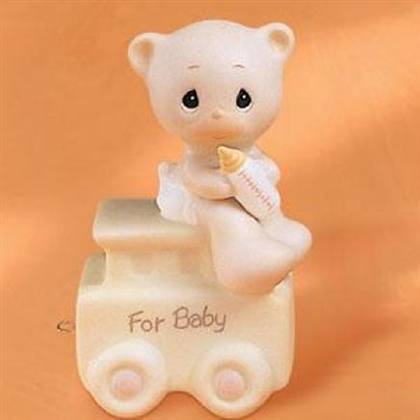 Baby Teddy Bear Birthday Train by Precious Moments Figurine, 15938