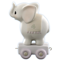 Elephant Birthday Train, Age 4 - Precious Moments Figurine, 15970