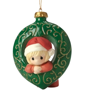 Precious Moments Girl in Christmas Ornament