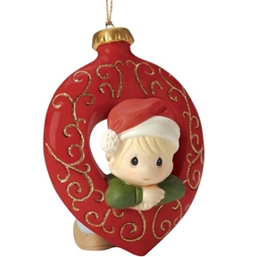 Precious Moments Boy in Christmas Ornament