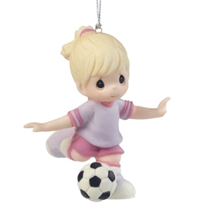 Precious Moments Girl Soccer Player Ornament
