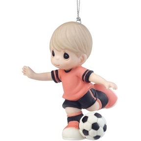 Precious Moments Boy Soccer Player Ornament