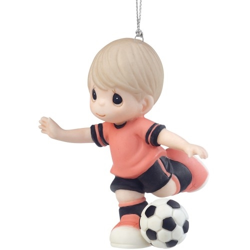 Precious Moments Boy Soccer Player Ornament 161039