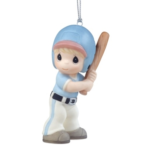 Precious Moments Boy Baseball Player Ornament