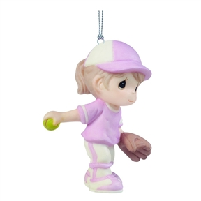 Precious Moments Girl Softball Player Ornament