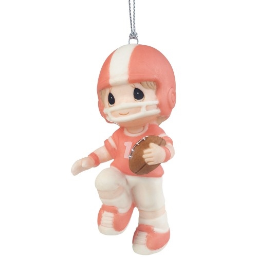 Precious Moments Boy Football Player Ornament 161042