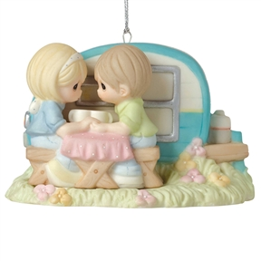 Precious Moments Couple with Camper Ornament