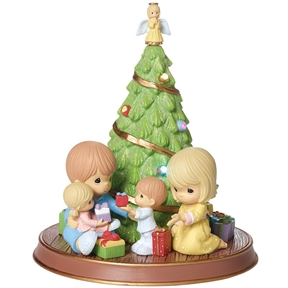 Precious Moments Christmas Morning Light-up / Musical Statue