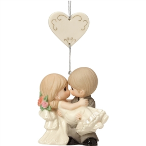 Precious Moments Groom Holding Bride Ornament, 163010
