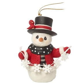 Precious Moments 8th Annual Snowman Ornament