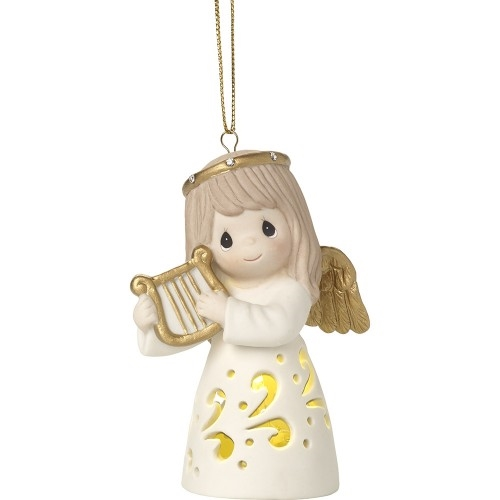 Precious Moments Light-up Angel with Harp 171026