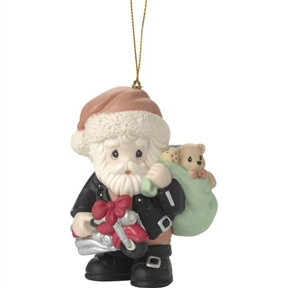 Precious Moments Biker Santa Ornament 171032