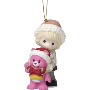 Precious Moments Girl with Care Bear Ornament