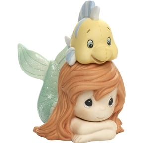 Precious Moments Little Mermaid and Flounder Figurine 171094