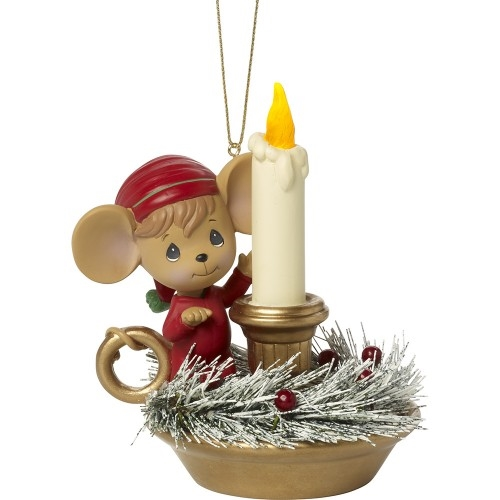 Precious Moments Mouse on Light-Up Chamber Stick 171411
