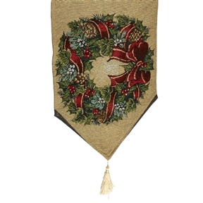 Precious Moments Traditional Wreath Table Runner