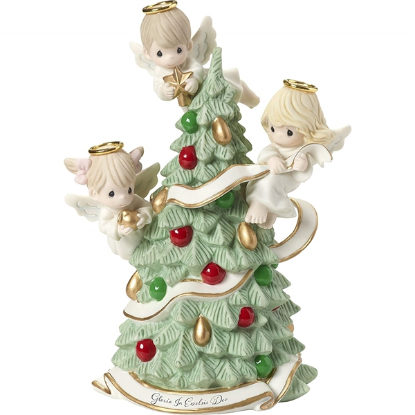 Precious Moments Angels Decorating Christmas Tree Figurine 181012