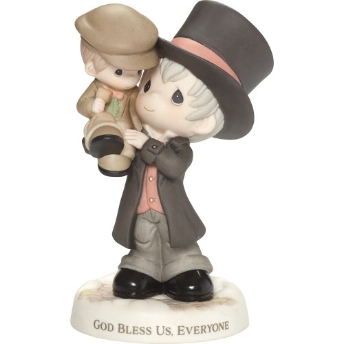 Precious Moments Scrooge Holding Tiny Tim Figurine, 181016