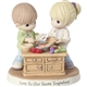 Precious Moments Couple Cooking Together Figurine, 181038