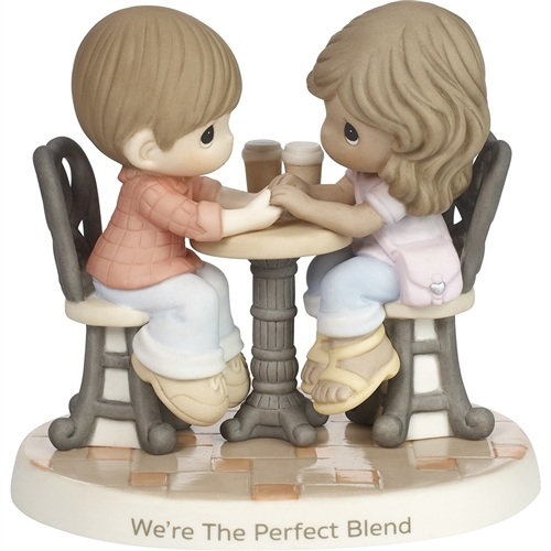 Precious Moments Couple at Cafe Figurine, 181040