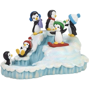 Precious Moments Playing Penguins Musical Figurine, 181112