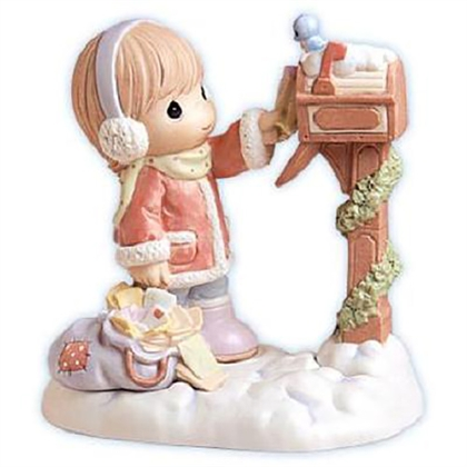 Girl Mailing Christmas Cards - Precious Moments Figurine, 4024087