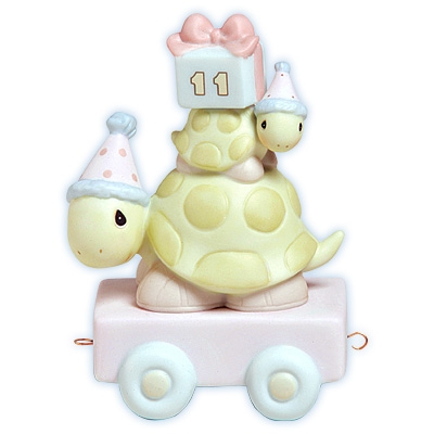 Turtle Birthday Train, Age 11 - Precious Moments Figurine, 488003