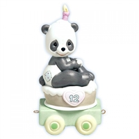 Panda Birthday Train Age 12 by Precious Moments Figurine 488011