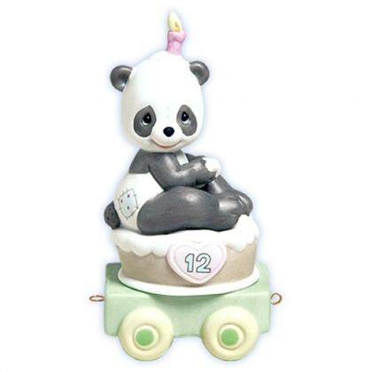 Panda Birthday Train, Age 12 - Precious Moments Figurine, 488011
