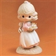 Blonde Girl with Birthday Cake - Precious Moments Figurine, 524301