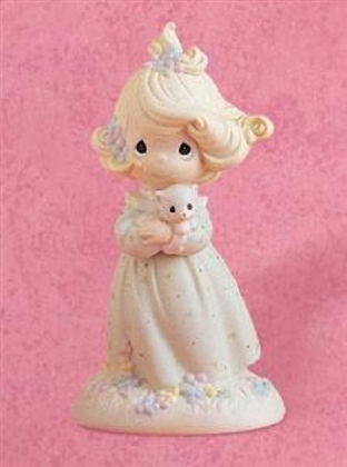 Girl with Kitten - Precious Moments Figurine, 524395